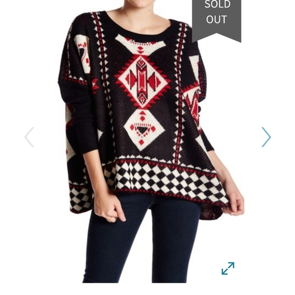 37d6fc0b3 Nwt romeo and juliet coutoure Aztec box sweater